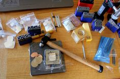 Metal stamping jewelry tools
