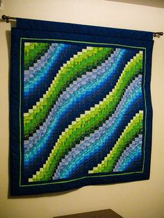 Seaside Bargello Quilt by TigerNeedles on Etsy
