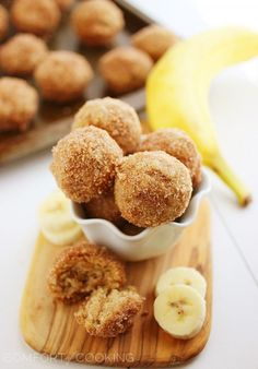 The Comfort of Cooking » Baked Cinnamon-Sugar Banana Donut Holes