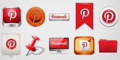Pinterest Icon Set