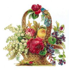 vintage flower basket