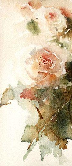 Jean Haines rose, рисунки цветов, jean haines, цветов акварелью