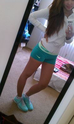 I want some Nike Pros in this color. :)