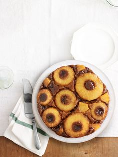 Salted-Caramel Pineapple Upside-Down Cake. Mmm Mmm Good! We love Pineapple Upside-down Cake, this takes it to the next level. Recipe