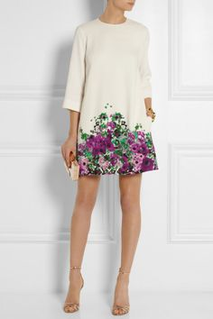 Elie Saab | Floral-print crepe mini dress