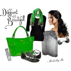 Lovin' The Green, created by modestlyme on Polyvore