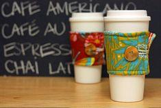 coffee lovers, cup wrap, reusabl coffe, gift ideas, coffee cups, xmas gifts, coffe cup, simple gifts, coffee cozy