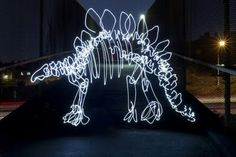 Dinosaurs Painted With Light - fun stuff