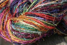 Recycled Photon Rainbow Sport Weight Recycled Silk Yarn by Darn Good Yarn | The Best Yarn Store!