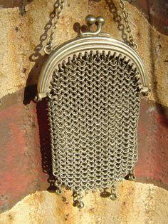Antique Victorian Silver Chatelaine Purse