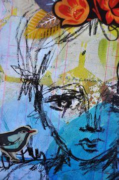 Art journaling with Jenni Bowlin Studios... - ponderings