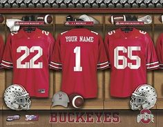 Personalized Ohio State Football Locker Room by DecadeAwards, $48.95