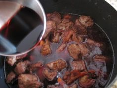 Julia Child's Boeuf Bourguignon #food #recipe