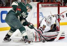 """Nope."" - Corey Crawford - Chicago Blackhawks vs Minnesota Wild - Game 4"