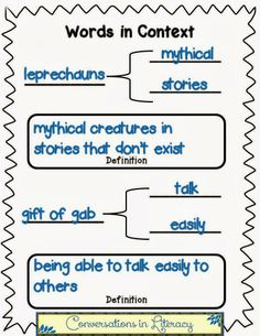 Words in Context$-Teaching vocabulary word meaning in context