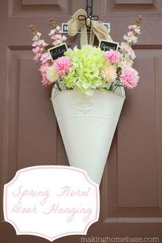 DIY-Spring Floral Door Hanging