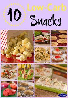 10 #lowcarb snacks you've gotta try!