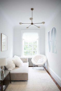 White-on-white living room