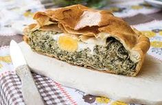 Torta Pasqualin.........Pastry filled with Swiss Chard Eggs and Parmesan....An Italian Easter Torta