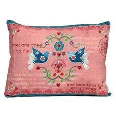 Vintage Primavera Cushion Love Birds, $30 !!