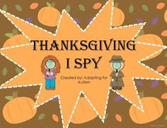 Thanksgiving I Spy: Adapted for students with autism, spec