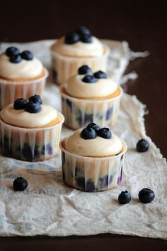 Blueberry Cream Cheese Cupcakes  These look and sound amazing!