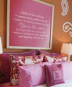Take a look at this Belvedere Designs White 'I Believe' Wall Quote by Color Trends: Pops of Pink on #zulily today!