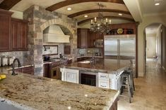 Tuscan Italian Kitchen With Arched Brick Ceiling, Large Island & Terra Cotta Tile Floor : Designers' Portfolio : HGTV - Home & Garden Television