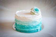 tiffany blue, ruffle cake, wedding cakes, blue cakes, ruffl cake