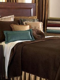 With colder weather on the horizon, turn your master suite into a plush and luxurious haven with the Lucerne Coverlet; a velvet collection boasting a wide array of colors to match any style.