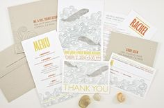wedding invite / dapper paper