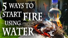 5 Ways to Start a Fire, Using Water  Fire and water: mortal enemies?  Not so fast!  Here are 5 ways to start a fire, using water.  For more projects videos, check out http://www.thekingofrandom.com