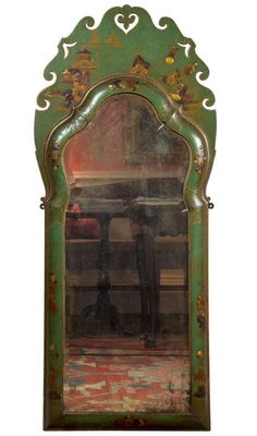 An Opulent Green Lacquer/Chinoiserie Mirror with Beveled Glass, China, 18th c.1stdibs