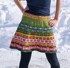 Colors! Pattern. Love it. craft, skirt patterns, cloth, skirts, crochet, prairi skirt, stem, knit skirt, flower