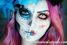 day of the dead makeup - Halloween Costumes 2013