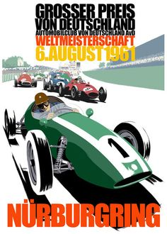 Poster of the German Grand Prix 1961