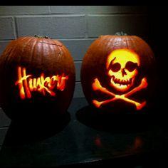 Nebrska Huskers and Blackshirts pumpkins!