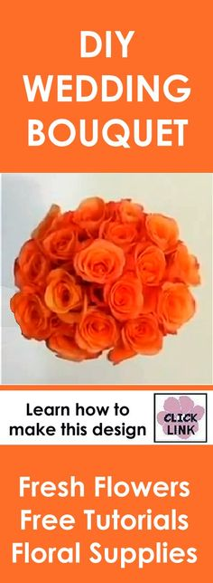 http://www.wedding-flowers-and-reception-ideas.com/make-a-wedding-bouquet-orange-roses.html  Easy step by step flower video on making a hand tied bridal bouquet.