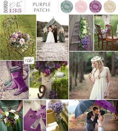 Rainy purple wedding