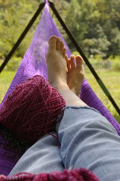 #13- Lazy Summer Day ~~ hammock knitting by chemgrrl, via Flickr