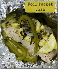 Easy Grilled Fish Fillet in Foil Packets