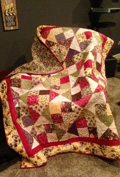 Quilt from an online tutorial from Missouri Star Quilt Company.