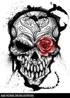 Tattoo inspiration... Threadless - Day of the Dead by GBIllustrations