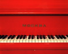 red red piano