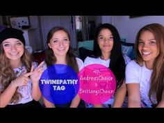 Twinepathy Tag w/ AndreasChoice & BrittanysChoice #twinepathy #challenge #andreaschoice #brooklynandbailey