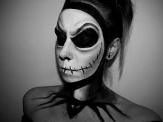 Jack Skellington Halloween Makeup Tutorial - YouTube