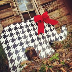Houndstooth Elephant. $35.00, via Etsy.
