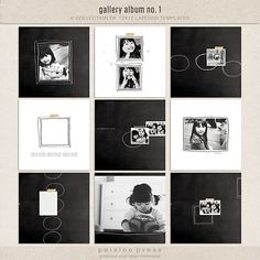 Paislee Press's Gallery Album no. 1. Love the simple black and white with the sketchy frames