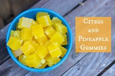 Superfood Citrus and Pineapple Gummies | Rubies & Radishes