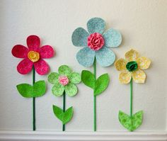 3d Flower Wall Decor Girls Room Wall Decal Fabric Wall Flowers